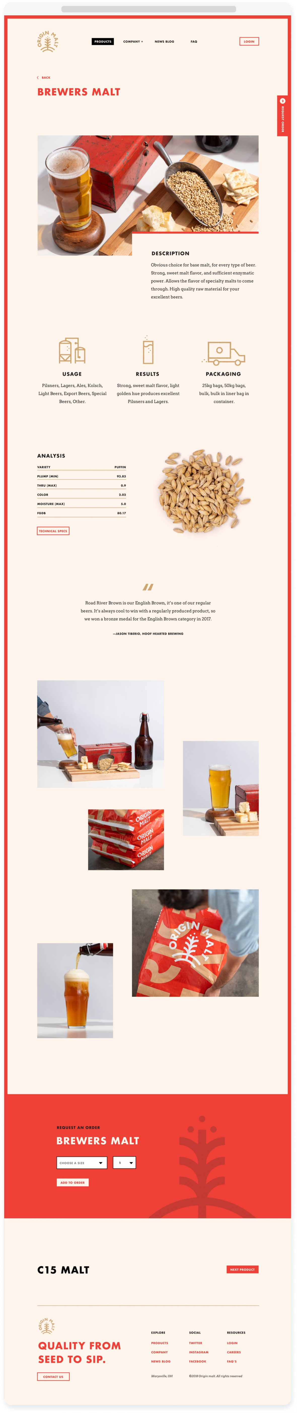 Origin Malt Product Page