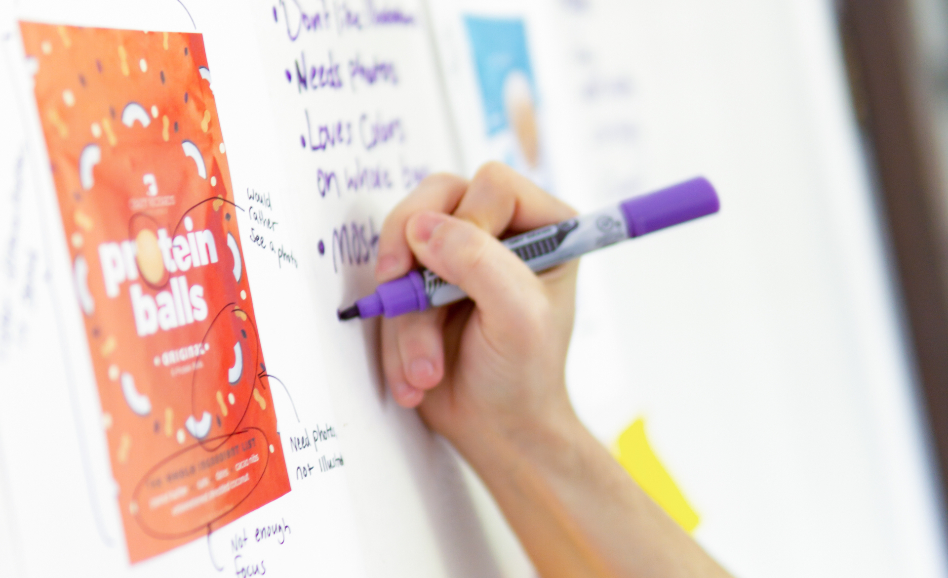 Hand writing notes for strategy sessions